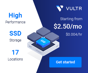 Proudly Hosted by VULTR